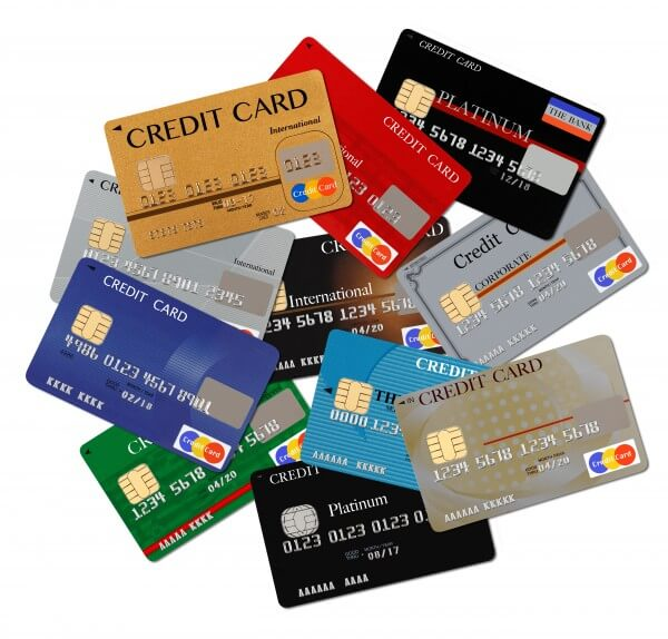 たくさんのクレジットカード