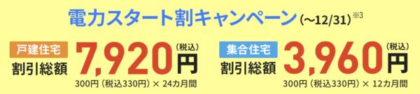 JCOM電力キャンペーン