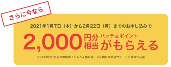 2千円分ポイント